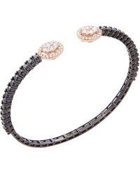 Vendoro - 18k Rose Gold & 2.79 Total Ct. Diamond Cuff Bracelet - Lyst