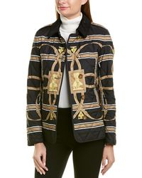 Burberry - Scarf Print Quilted Jacket - Lyst