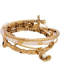 ALEX AND ANI Set Of 4 Seaside Wire Bangle Bracelet