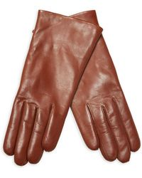 Maison Fabre - Solid Leather Gloves - Lyst