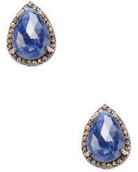 Bavna - Diamond & Pear-cut Sapphire Earrings - Lyst