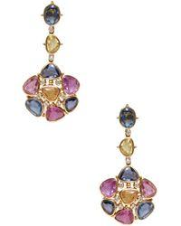 Jyoti New York - Multicolor Sapphire Drop Earrings - Lyst