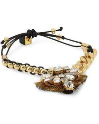 Nocturne Crystal Faceted Friendship Bracelet - Metallic
