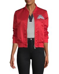 Carven - Satin Bomber Jacket - Lyst