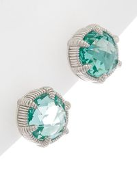 Judith Ripka - Eclipse Silver 8.80 Ct. Tw. Pariaba Spinel Studs - Lyst