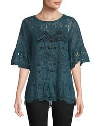 Anna Sui - Cupid's Clouds & Scallop Lace Blouse - Lyst
