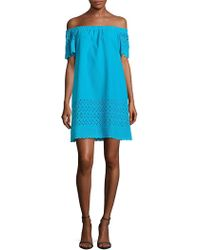 Donna Morgan - Cotton Off-the-shoulder Dress - Lyst