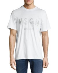 MSGM - Solid Cotton T-shirt - Lyst
