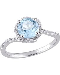 Rina Limor - 14k White Gold, Topaz & Diamond Ring - Lyst