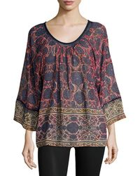 Plenty by Tracy Reese - Printed Dolman Blouse - Lyst