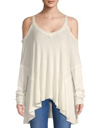 PPLA - Cold-shoulder Ribbed Top - Lyst