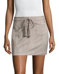 Dolce Vita - Madden Fringe Trimmed Mini Skirt - Lyst