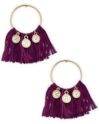 Ettika Jewelry - Coin & Fringe Statement Earrings - Lyst