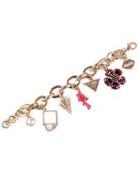 Lulu Frost Buttercup Plated Labradorite & Crystal Charm Bracelet