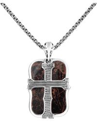 Stephen Webster Men's Silver Jasper Necklace