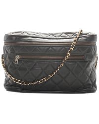 Chanel - Green Quilted Leather Crossbody Bag - Lyst 23710c295cf92