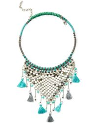 Cara Couture Jewelry - Tassel Statement Necklace - Lyst