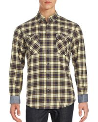 James Campbell - Long Sleeve Cotton Plaid Shirt - Lyst