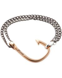 Miansai   Oxidized Hook On Chain Station Bracelet   Lyst