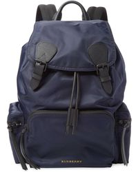 Burberry - Double-buckle Backpack - Lyst