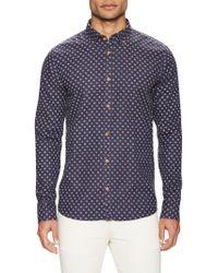 Color Siete - Victorville Cotton Printed Sportshirt - Lyst