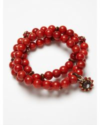 Miguel Ases - Set Of Coral And Wood Bracelets - Lyst