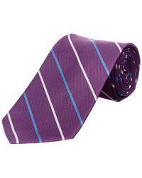 Brooks Brothers - Purple Bar Stripe Silk Tie - Lyst