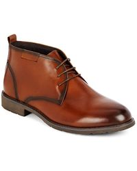 Hart Schaffner Marx - Leather Ankle Boots - Lyst