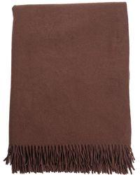 Hermès - Brown Cashmere Fringe Throw Blanket - Lyst