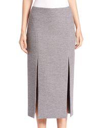 Wes Gordon - Double-slit Pencil Skirt - Lyst