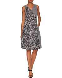 The Letter - Mixed Prints Wrap Dress - Lyst