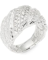 John Hardy - Diamond Chain Ring - Lyst