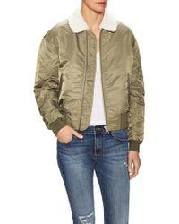ELEVEN PARIS | Transe Faux Fur Collar Jacket | Lyst