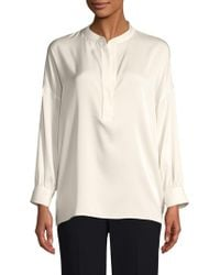 Vince | Shirred Drape Pullover | Lyst