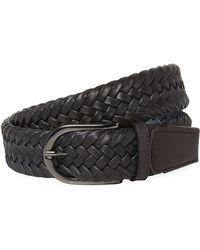 J.Lindeberg - Brayden Cow Leather Belt - Lyst