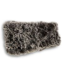Saks Fifth Avenue - Knitted Rabbit Fur Headband - Lyst