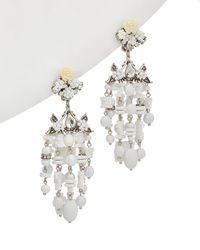 DANNIJO Silver Plated Resin Drop Earrings