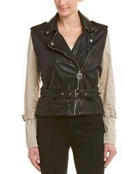 Pinko - Leather Jacket - Lyst