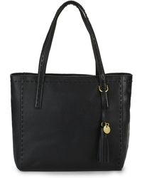 Cole Haan - Ivy Pic Stitch Leather Tote Bag - Lyst