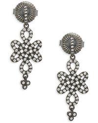 Freida Rothman - Cubic Zirconia Small Love Knot Drop Earrings - Lyst