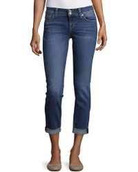 Hudson Jeans - Ginny Roll-up Straight-leg Jeans - Lyst