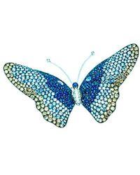 Arthur Marder Fine Jewelry - 18k 12.50 Ct. Tw. Diamond & Sapphire Butterfly Brooch - Lyst