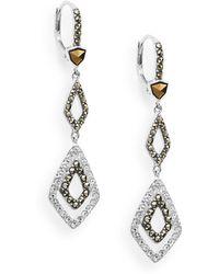 Judith Jack - Stacked Geometric Link Drop Earrings - Lyst