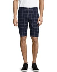 AT.P.CO - Striped Cotton Shorts - Lyst