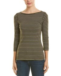 Three Dots - Autumn Stripe T-shirt - Lyst