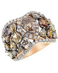 Diana M. Jewels - . Fine Jewellery 18k Rose Gold 6.80 Ct. Tw. Diamond Ring - Lyst