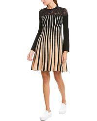 Twin Set - Twinset Lace Yoke Wool-blend Sweaterdress - Lyst