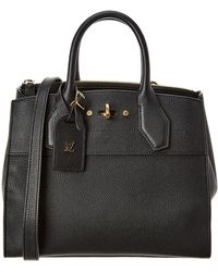 Louis Vuitton - Black Calfskin Leather City Steamer Pm - Lyst