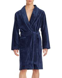 Saks Fifth Avenue - Long Sleeve Cotton Robe - Lyst