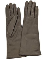 Portolano - Leather Black Gloves - Lyst